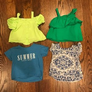 Set of 4 Zara Girls Tops